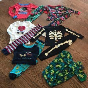 SIX pairs of 4/4T pajamas